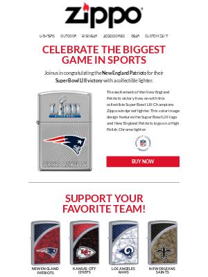 🏈 Get Your Super Bowl LIII Commemorative Lighter