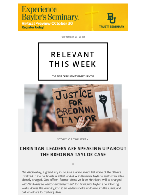 relevant - Christian Leaders Are Speaking Up About The Breonna Taylor Case