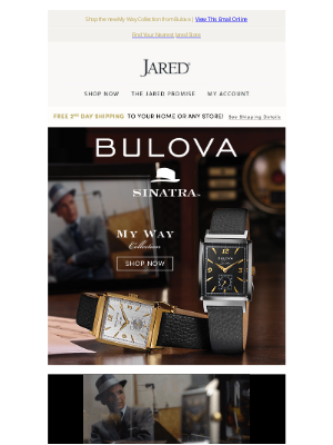 Jared - Honor the legend Frank Sinatra with a new collection from Bulova