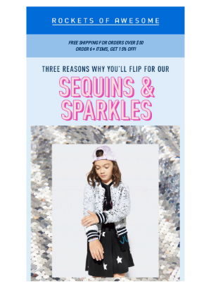 ROCKETS OF AWESOME - Sparkle in our sequins