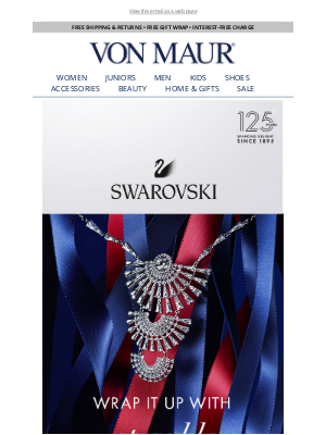 Von Maur - Swarovski Jewelry & Holiday Ornaments