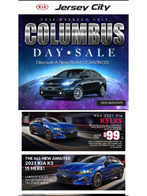 Kia Motors America - Best Prices Of The Year Tomorrow For Our Columbus Day Sale Tomorrow!