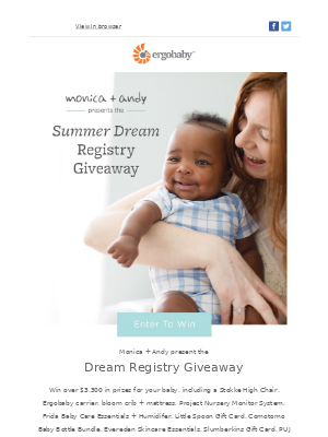 You + $3,300+ in prizes = happy mama
