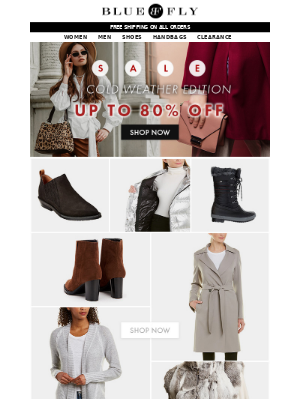Bluefly - Cold Weather Sale! 80% Off Boots, Outerwear & more