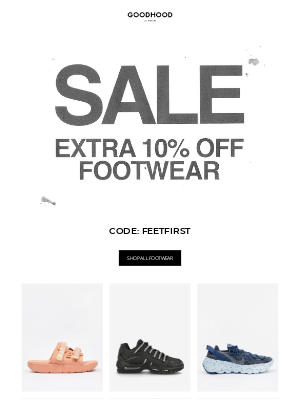 The Goodhood Store - Get an extra 10% off Sale footwear