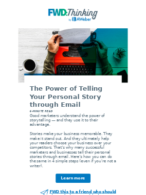 4 steps to writing a powerful story email