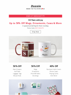 Zazzle - Last Day to Get up to 50% Off Stocking Stuffers!