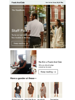 Frank and Oak - The Sunday Paper: Our team tell all about their fall style, an interview with artist Na Kim, an intro to natural wines, and more.