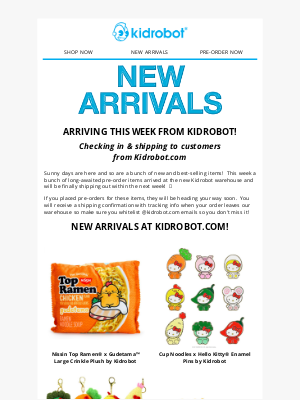 Kidrobot - 🎉 NEW Arrivals & Pre-Ordered Items Shipping out this Week!