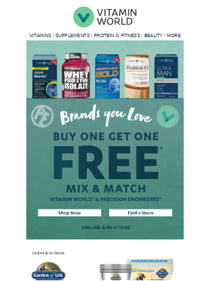 The Brands You Love ❤️ NOW Buy 1, Get 1 FREE!