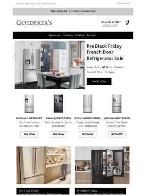 Goedeker's - French Door Fridges, Slide-In Ranges & Top Control Dishwasher Deals!