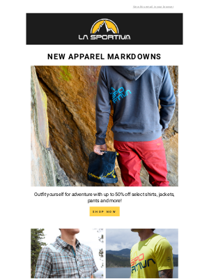 New Apparel Markdowns
