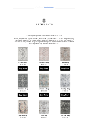 artiplanto - Have You Seen Our NEW RUGS?