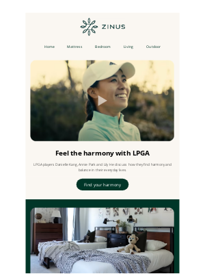 Zinus - How our Zinus LPGA Players Find Their Harmony