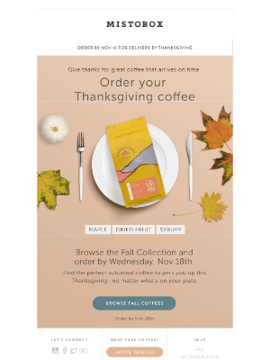 MistoBox - Thanksgiving is coming. Is your coffee?☕
