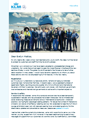 KLM - A personal message from our CEO
