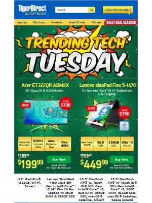 TigerDirect - Popular Tech: $299 Microsoft Surface | $139 1350VA UPS