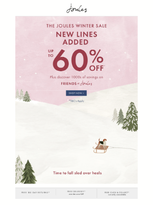 Joules (UK) - That's snow fantastic! New lines added to our Winter Sale