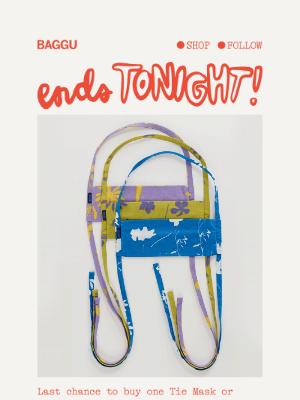BAGGU - Mask Sale Ends Tonight!