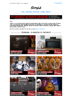 Sam Ash Music - ★ Last Chance for Extended Financing on The World's Best Music & Sound Gear