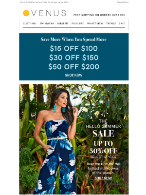 VENUS Fashion - Spend More To Save More Starts Now!