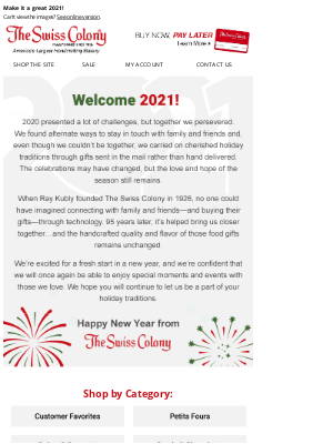 The Swiss Colony - Happy New Year from The Swiss Colony