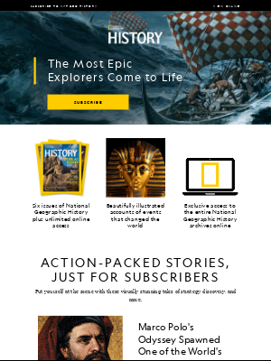 Journey with Ancient Explorers when you subscribe to Nat Geo History