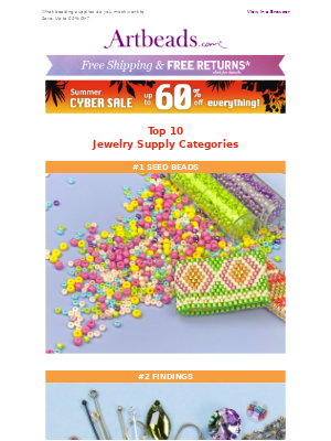 Top 10 Most Popular Jewelry Supplies in Cyber Summer Sale