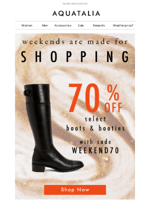 70% off Select Boots and Booties | Last Day