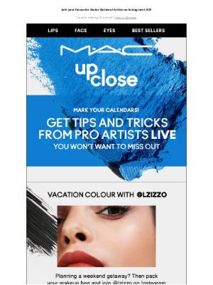 MAC Cosmetics - June Virtual Classes - Happening Now!
