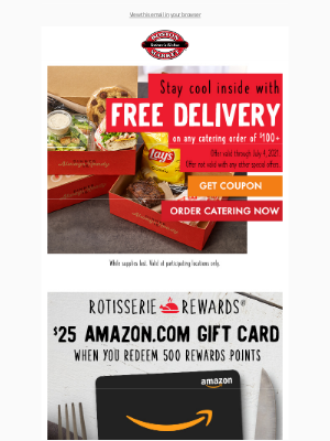 Boston Market - Lynn, FREE Delivery On Catering Purchases $100 or More