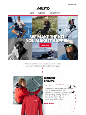 Musto UK - Whatever your activity, we have the kit.