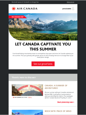 Air Canada - Great fares to rediscover Canada this summer