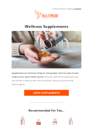 BULLETPROOF Inc - SUPPLEMENTS: Immune support, detox, and so much more!