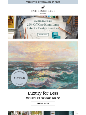 One Kings Lane - Up to 60% off vintage fine art