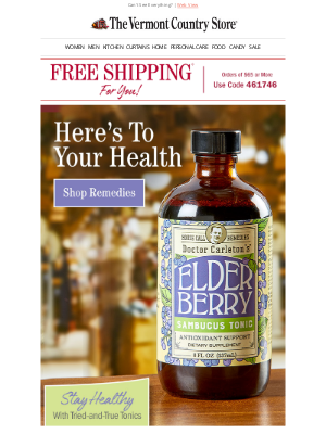 Vermont Country Store - Free Shipping+ Remedies for Natural Wellness