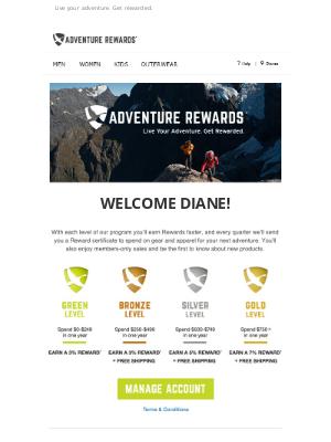 Eddie Bauer - Welcome To Adventure Rewards!