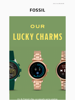 Fossil - Happy St. Patrick's Day! ☘
