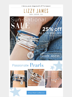 25% Off Pearl, Gemstone & Charm Bracelets All Weekend⏳