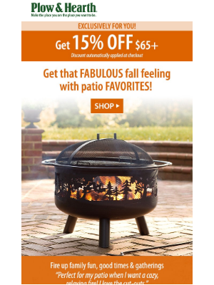 Plow & Hearth - 4 Ways to Create A Cozy Fall Patio