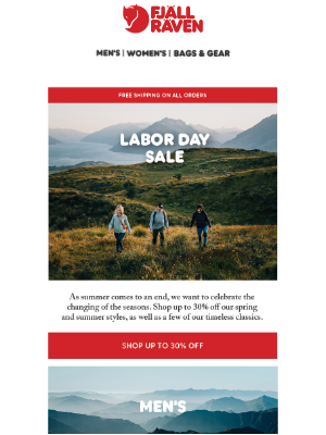 Fjällräven - Labor Day Sale, Shop Up To 30% Off