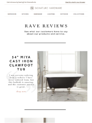 Signature Hardware - Five-Star Reviews: Homeowners and Design Experts Share Their Experiences