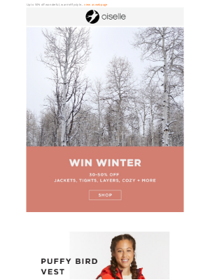 Oiselle - Winter Weekend Sale is Here! ❄️