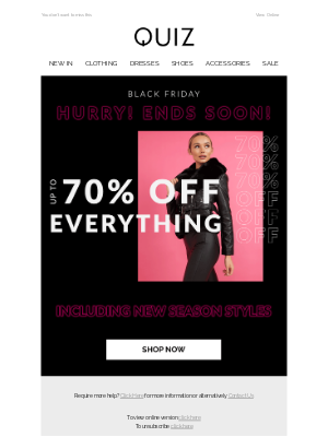 Quiz Clothing (UK) - Up to 70% OFF EVERYTHING, even new season ⚡️🖤
