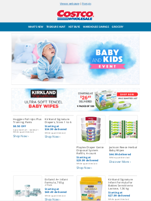 Costco Canada - The Baby & Kids Event is on now on Costco.ca!