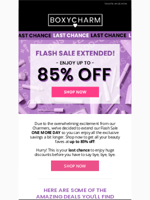 BOXYCHARM - 1 MORE DAY! Don't let this sale get away!