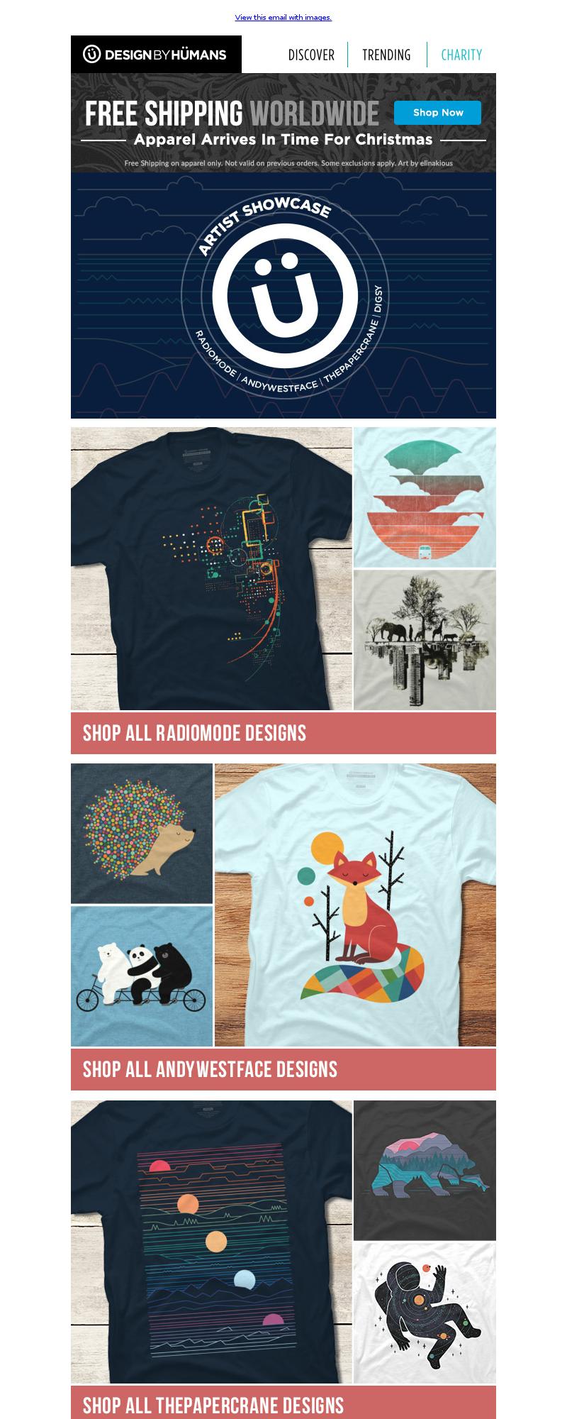 DesignByHumans - Artist Showcase: Part One + Giveaway & Free Shipping