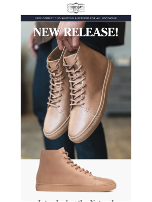 Thursday Boot Company - New Release: Natural Vachetta High Top!