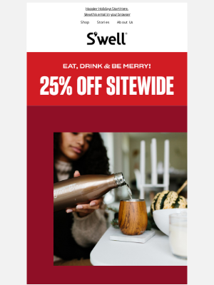 S'well Bottle - Happy Thanksgiving! Enjoy 25% Off Sitewide
