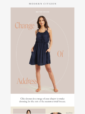 Modern Citizen - Elevated, essential dresses in a range of easy shapes